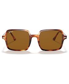 Ray-Ban SQUARE II Polarized Sunglasses, RB1973 53