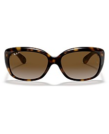 Ray-Ban JACKIE OHH Polarized Sunglasses, RB4101 58