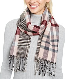 Reversible Plaid Italian Scarf