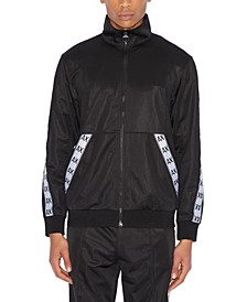 Men's Zip-Up Tricot Logo Taped Track Jacket