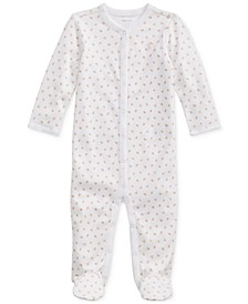Baby Girls Printed Floral Interlock One Piece Coverall, Created For Macy's