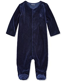 Baby Boys Velour One Piece Coverall
