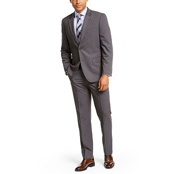Nautica Mens Solid Modern-Fit Suit