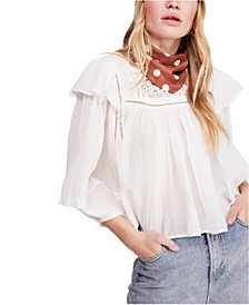 Laura Cotton Ruffled Top
