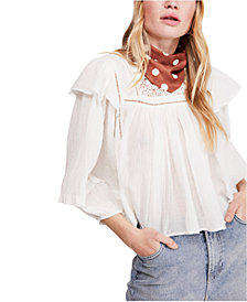 Free People Laura Cotton Ruffled Top