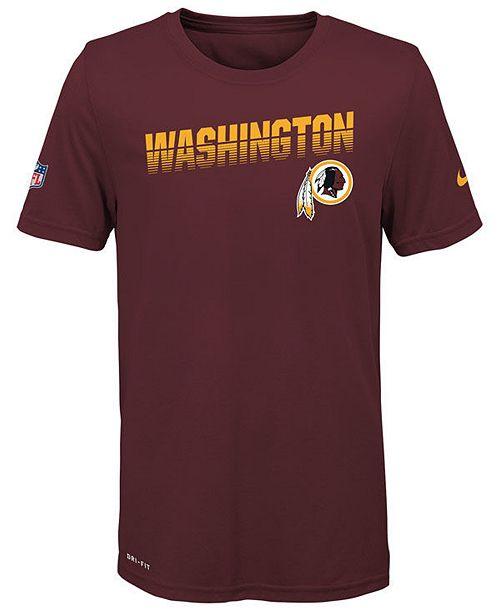 Nike Big Boys Washington Redskins Sideline T-Shirt