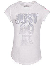 Little Girls Just Do It-Print Cotton T-Shirt