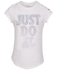 Nike Toddler Girls Just Do It-Print Cotton T-Shirt