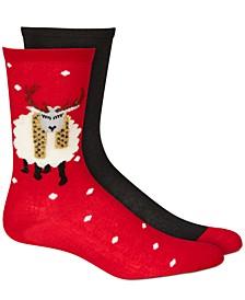 Women's 2-Pk. Stocking Stuffer Crew Socks