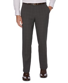 Perry Ellis Portfolio Men's Modern-Fit Performance Stretch Heathered Dress Pants