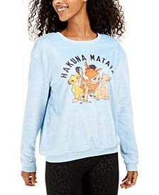Juniors' Hakuna Matata Plush Sweatshirt