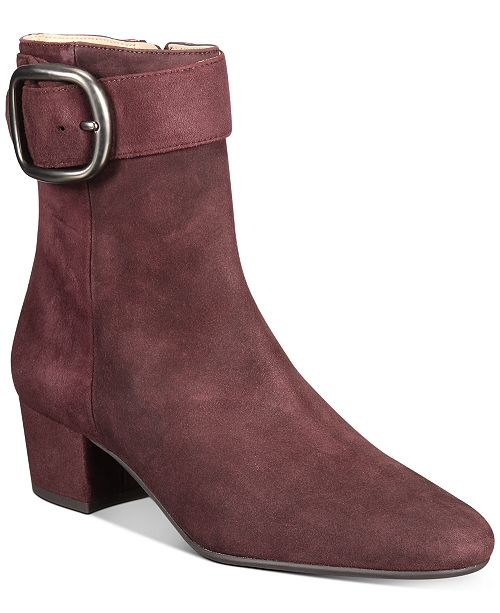COACH Cassandra Buckle Booties