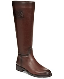 Raee Riding Wide Calf Leather Boots