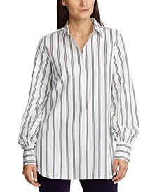 Cotton Long-Sleeve Blouse