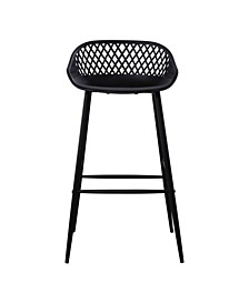 Piazza Outdoor Bar Stool Black Set of Two
