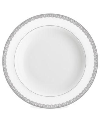 Lismore Lace Platinum Rim Soup Bowl