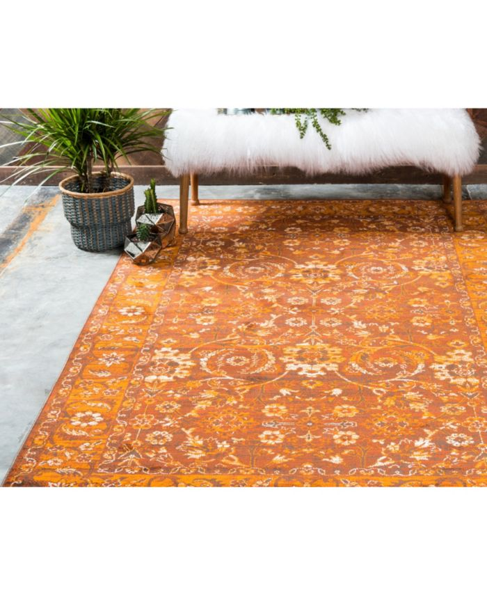 Bridgeport Home Linport Lin3 Terracotta Area Rug Collection & Reviews - Rugs - Macy's