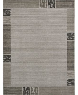 Lyon Lyo1 Light Gray 8' x 8' Round Area Rug