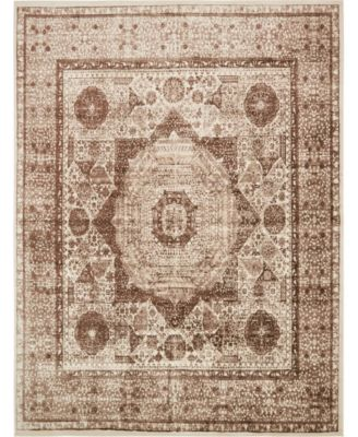 Linport Lin7 Brown 4' x 6' Area Rug