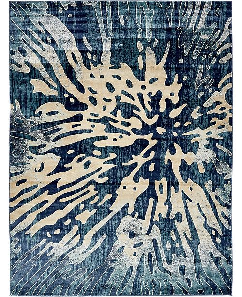 Bridgeport Home Marblesea Mrb6 Navy Blue Area Rug Collection