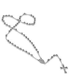 Steeltime Stainless Steel Religious Classic Beaded Rosary with Necklaces