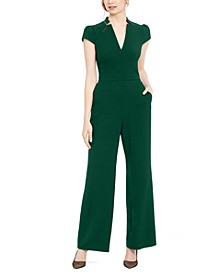 Notched-Neck Jumpsuit