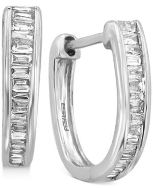 Effy Diamond Baguette Hoop Earrings (1/2 ct. t.w.) in 14k White Gold