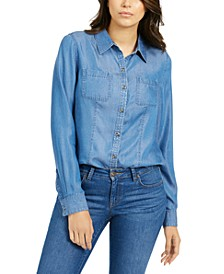 Petite Chambray Shirt, Created For Macy's