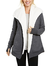 Sherpa Fleece-Lined Wrap, Created for Macy's