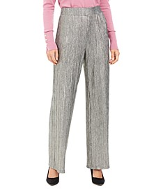 Metallic Crinkle Pants, Created For Macy's