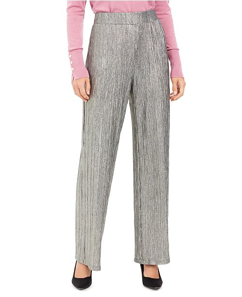 JM Collection Metallic Crinkle Pants, Created For Macy's