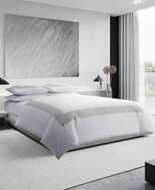Vera Wang Sateen Band King Duvet Cover Set
