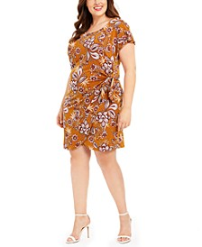Plus Size Paisley Flower Sarong Dress