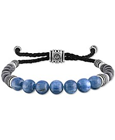 Kyanite & Gray Cats Eye Beaded Bolo Bracelet in Sterling Silver, Created For Macy's