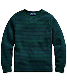 Little Boys Waffle Knit Stripe Thermal, Created For Macy's