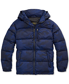 Polo Ralph Lauren Big Boys Riptop French Navy Camo Jacket, Created for Macy's