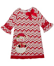 Little Girls Chevron Snowman Dress