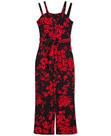 BCX Big Girls Floral-Print Jumpsuit