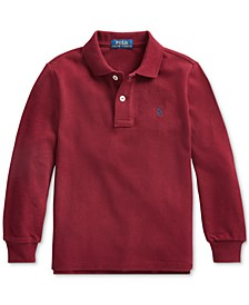 Little Boys Basic Mesh Knit Polo Shirt