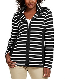 Sport French Terry  Striped Jacket, Created for Macy's