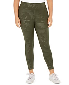 Plus Size Cool Camo Leggings, Created For Macy's