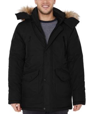 Men's Faux-Fur-Trim Parka Jacket