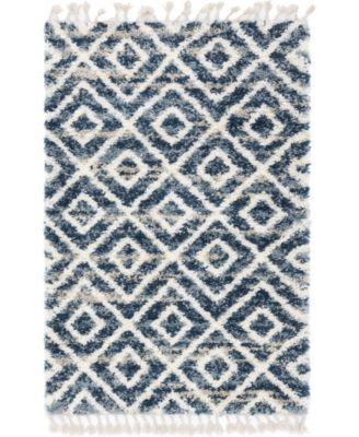 Lochcort Shag Loc2 Blue 9' x 12' Area Rug