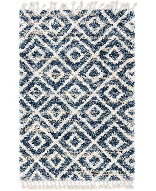 Bridgeport Home Lochcort Shag Loc2 Blue Area Rug Collection