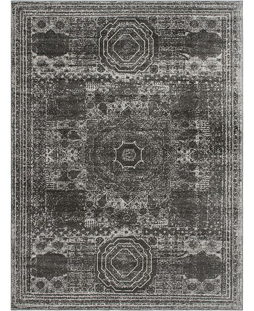 Bridgeport Home Mobley Mob2 Dark Gray Area Rug Collection