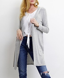 COIN 1804 Womens Light Weight Hoody Cardigan