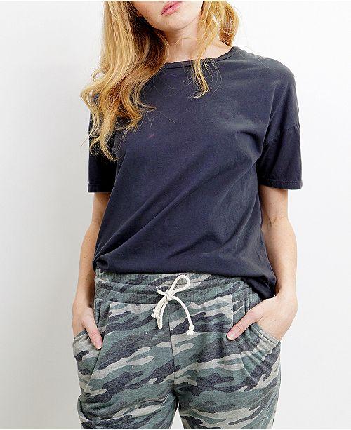 COIN 1804 Womens Cotton Short-Sleeve Basic Crew-Neck Tee