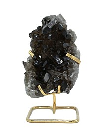 - Smoky Quartz Cluster on Gold-tone Wire Stand