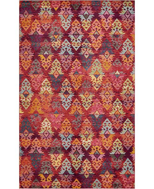 Bridgeport Home Arcata Arc1 Rust Red Area Rug collection