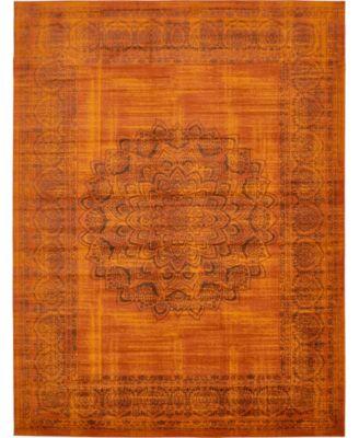 Linport Lin5 Terracotta 7' x 10' Area Rug